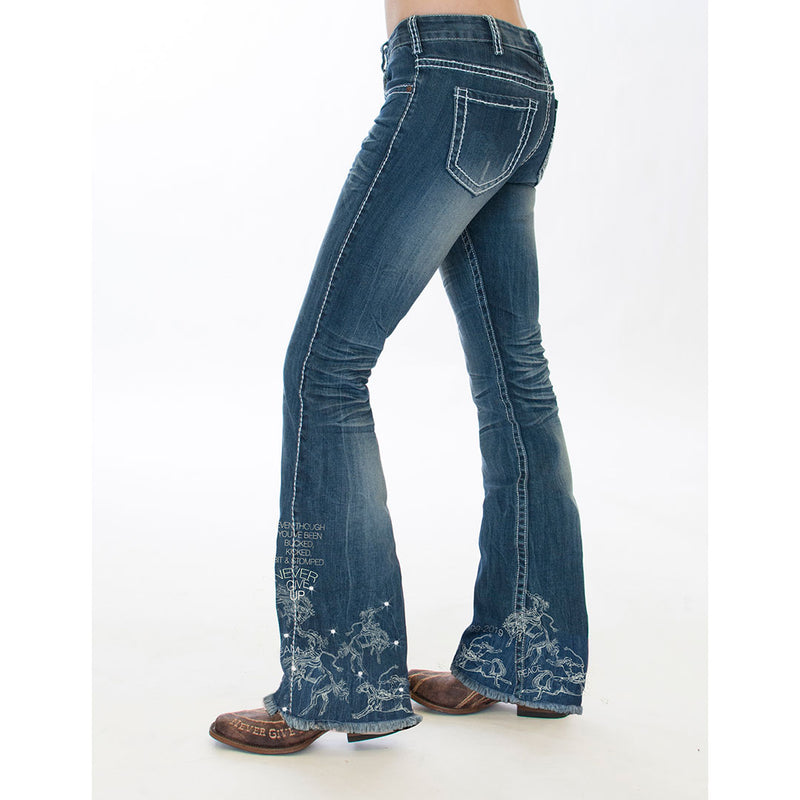 Cowgirl Tuff Women's UnBeliveable 20 Mid Rise Wide Leg Jeans