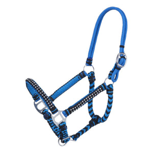 Tough 1 Mini Braided Cord Blue & Black Halter
