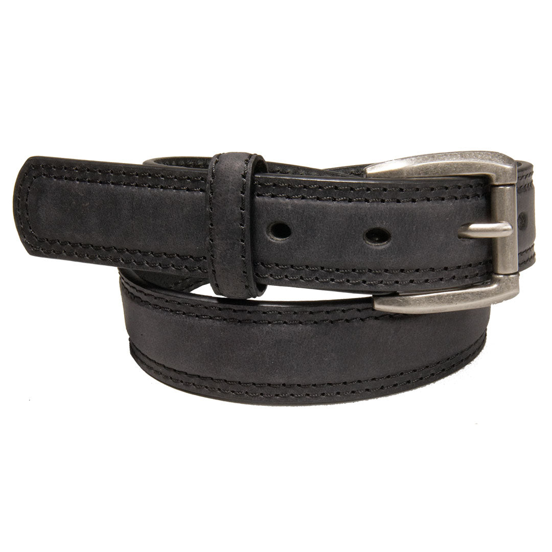 AndWest Boys Textured Roller Buckle Black Belt