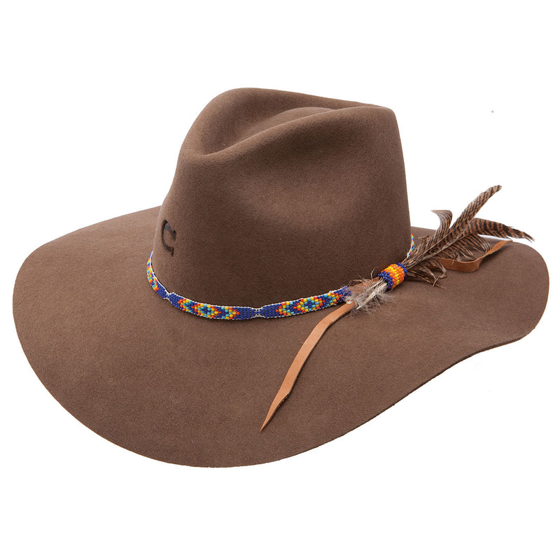 Charlie 1 Horse Gypsy Acorn Feather Cowgirl Hat