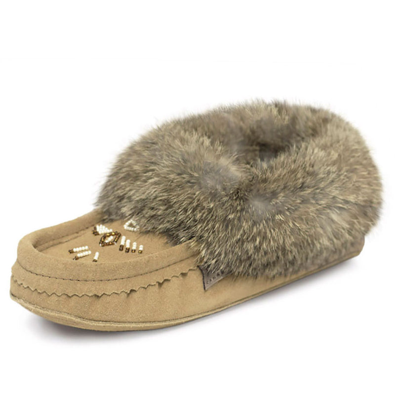 Laurentian Chief Women's Fur Trim Moccasin