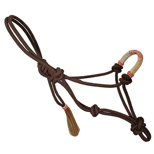 Cowboy Collection 9MM Nylon Halter w/ Red Raw Hide Nose Wrap
