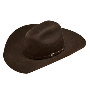 Ariat Youth Brown Felt Cowboy Hat
