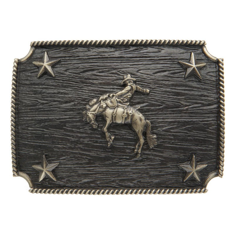 AndWest Iconic Bronc Rider Rectangle Buckle