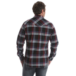 Rock 47® By Wrangler® Black & Red Plaid Shirt