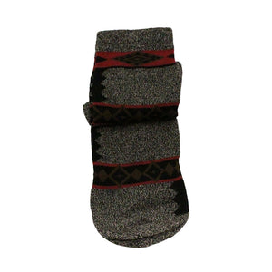 Austin Accent Grey Red & Black Aztec Pattern Sock