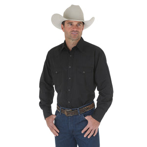 Wrangler Sport Western Tone on Tone Stripe Men's Shirt