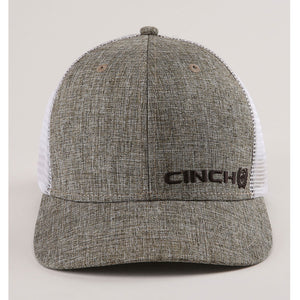 Cinch Trucker Khaki & White Mens Cap