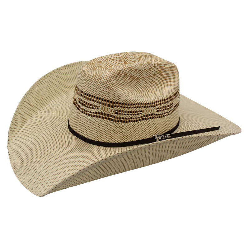 Twister Bangora Tan Two-Tone Straw Cowboy Hat