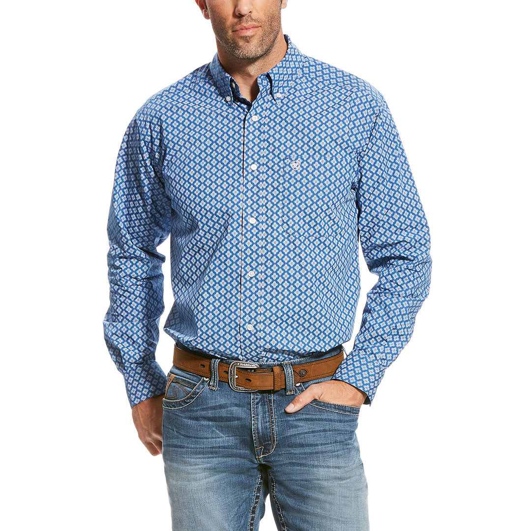 Ariat Snerling Blue Floral Print Shirt
