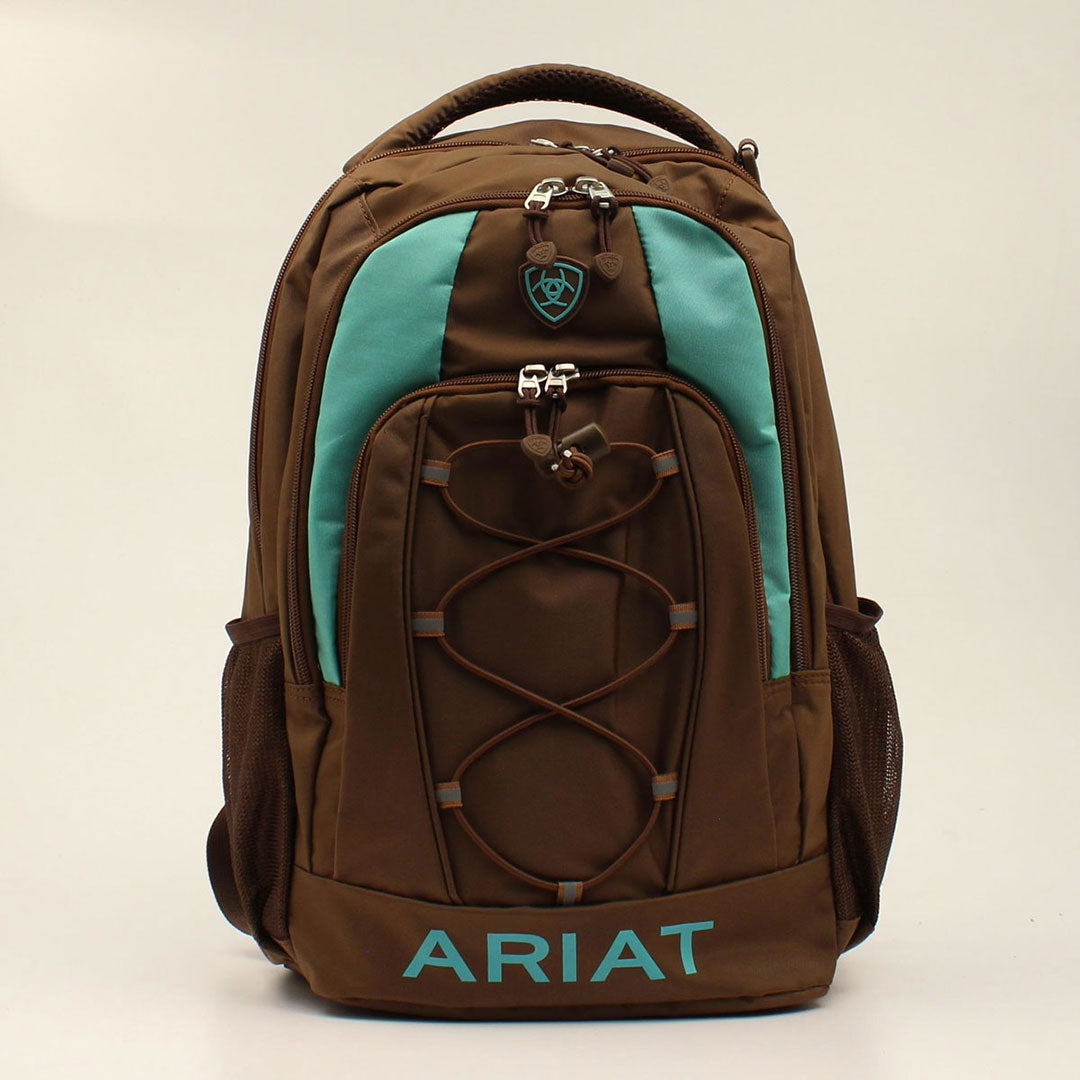 Ariat Brown & Turquoise Backpack