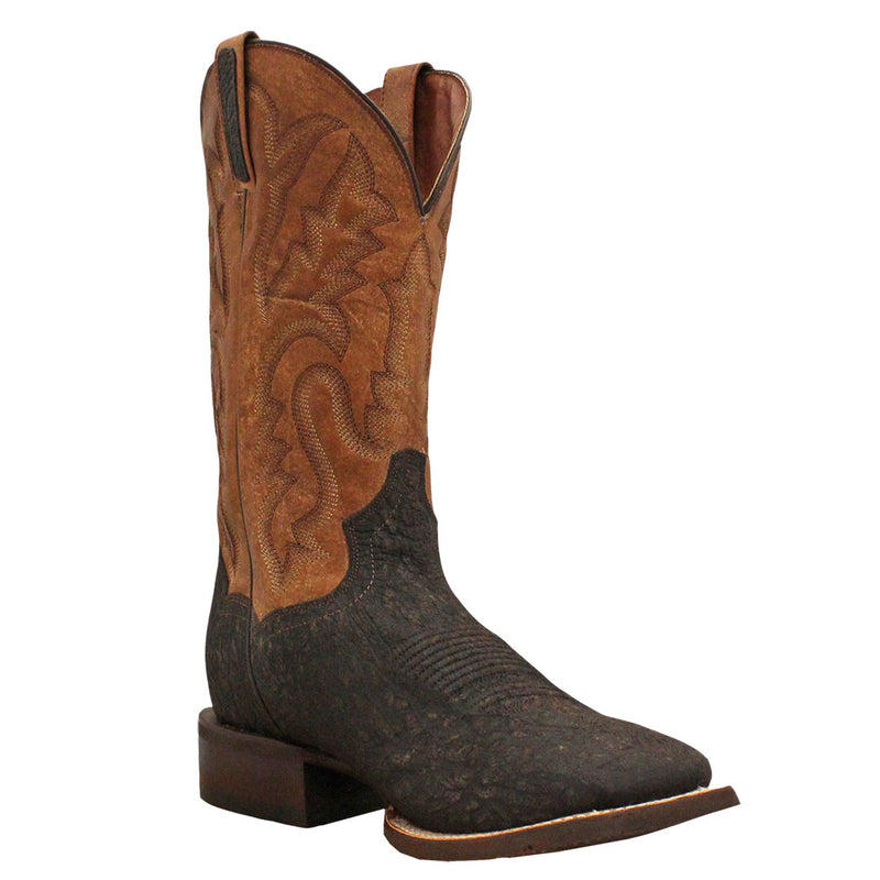 Dan Post Men's Bull Hide Square Toe Cowboy Boots