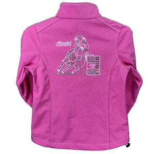 Cowgirl Hardware Barrel Racer Heather Pink Infant/Toddler Jacket