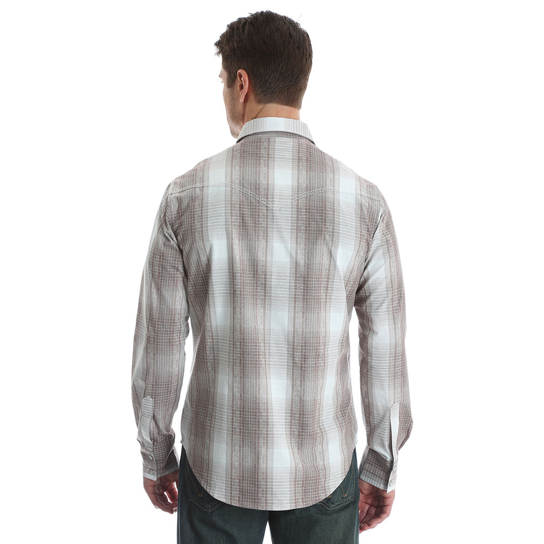 Wrangler Retro® Light Brown Plaid Shirt