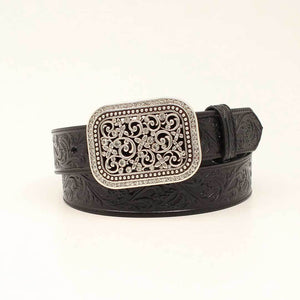 Ariat Women's Floral Embossed Leather Belt