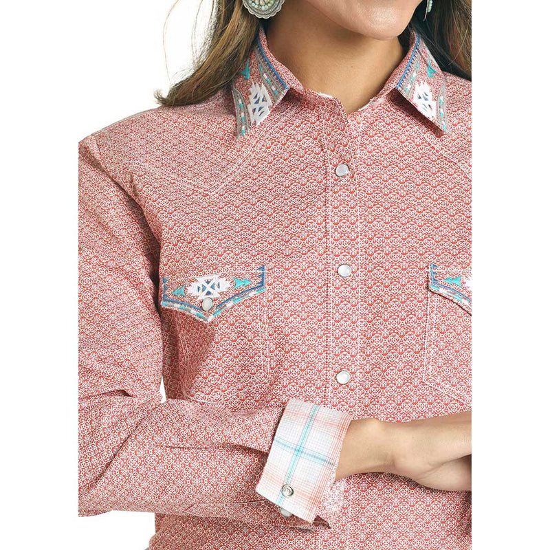 Rough Stock Women's Embroidered Aztec Shirt