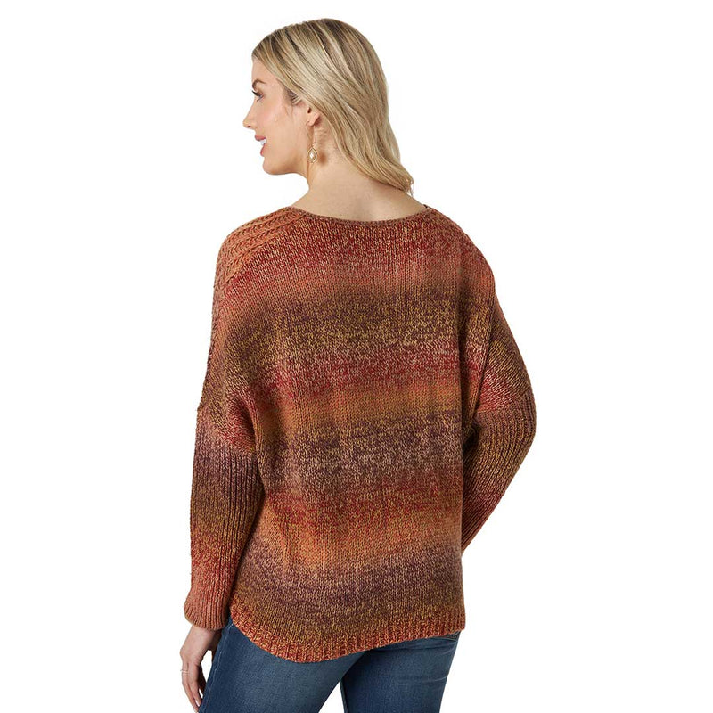 Wrangler Women's Retro Ombre Knit Sweater