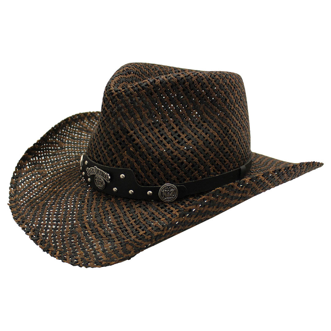 Jack Daniels Black & Brown Straw Cowboy Hat