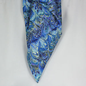 Austin Accent Blue Feather Wild Rag