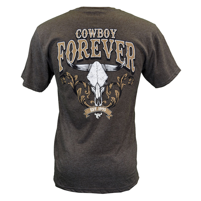 "Cowboy Hardware ""Cowboy Forever"" Grey Tee"