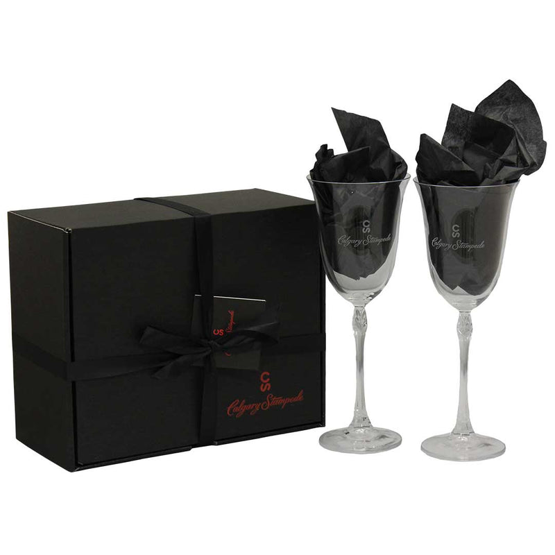 Calgary Stampede Wine Glass Gift Set