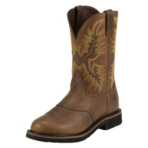 Justin Superintendent Brown Cowboy Work Boots