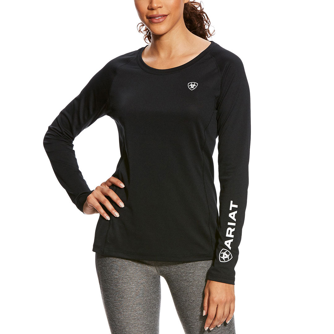Ariat Sunstopper Black Crew Top