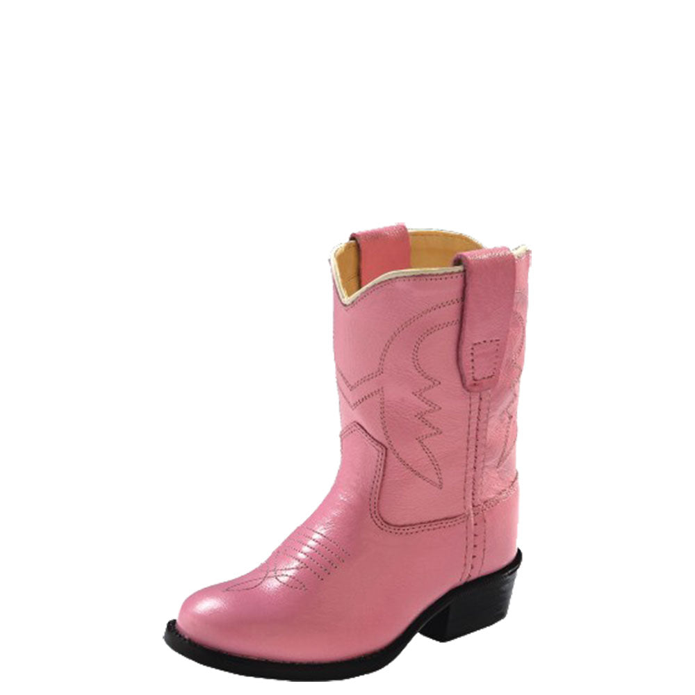 Old West Toddler Pink Western Boots
