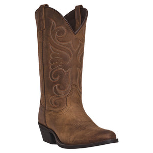 Laredo Bridget Distressed Tan Cowgirl Boots
