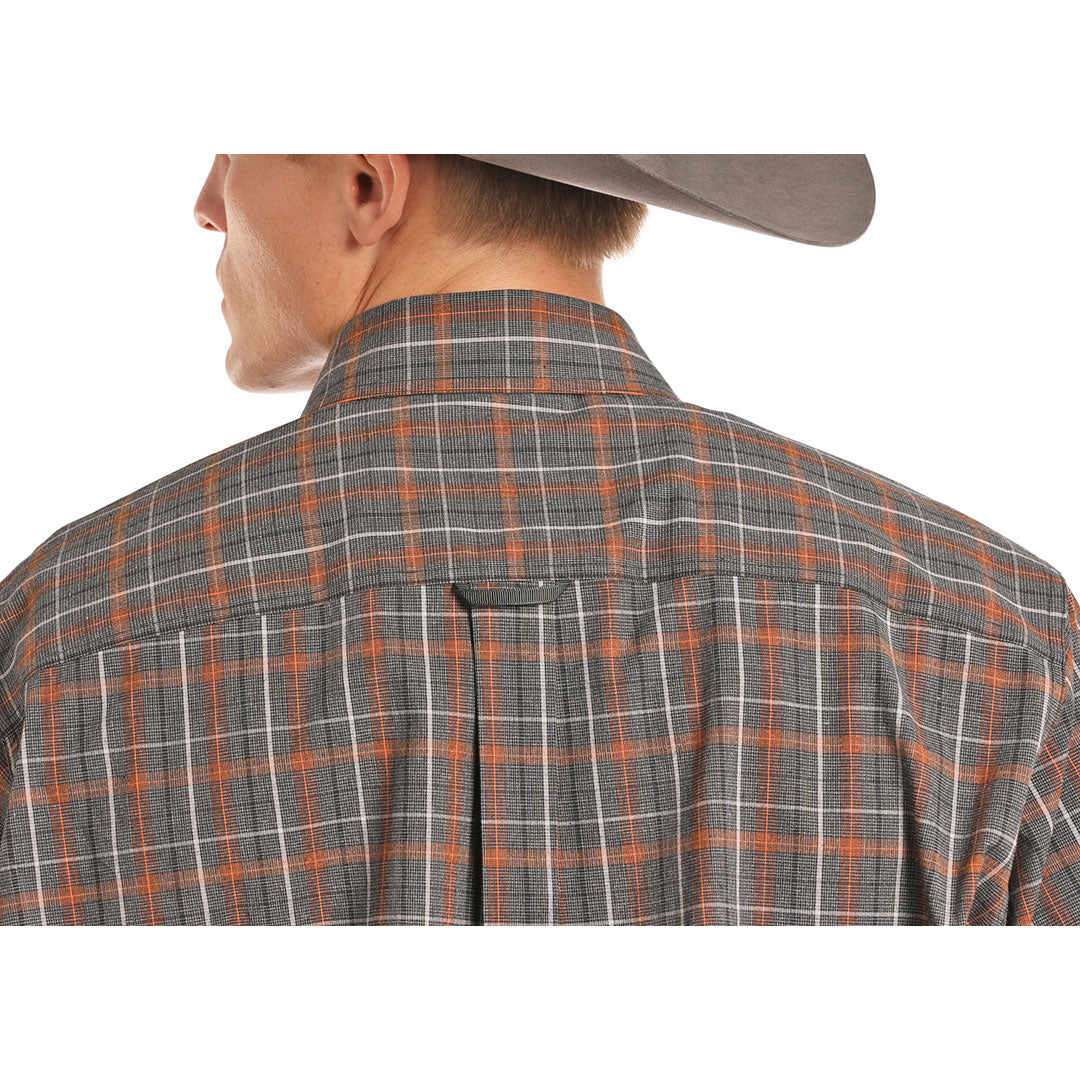 Tuf Cooper Competition Brown Plaid Shirt