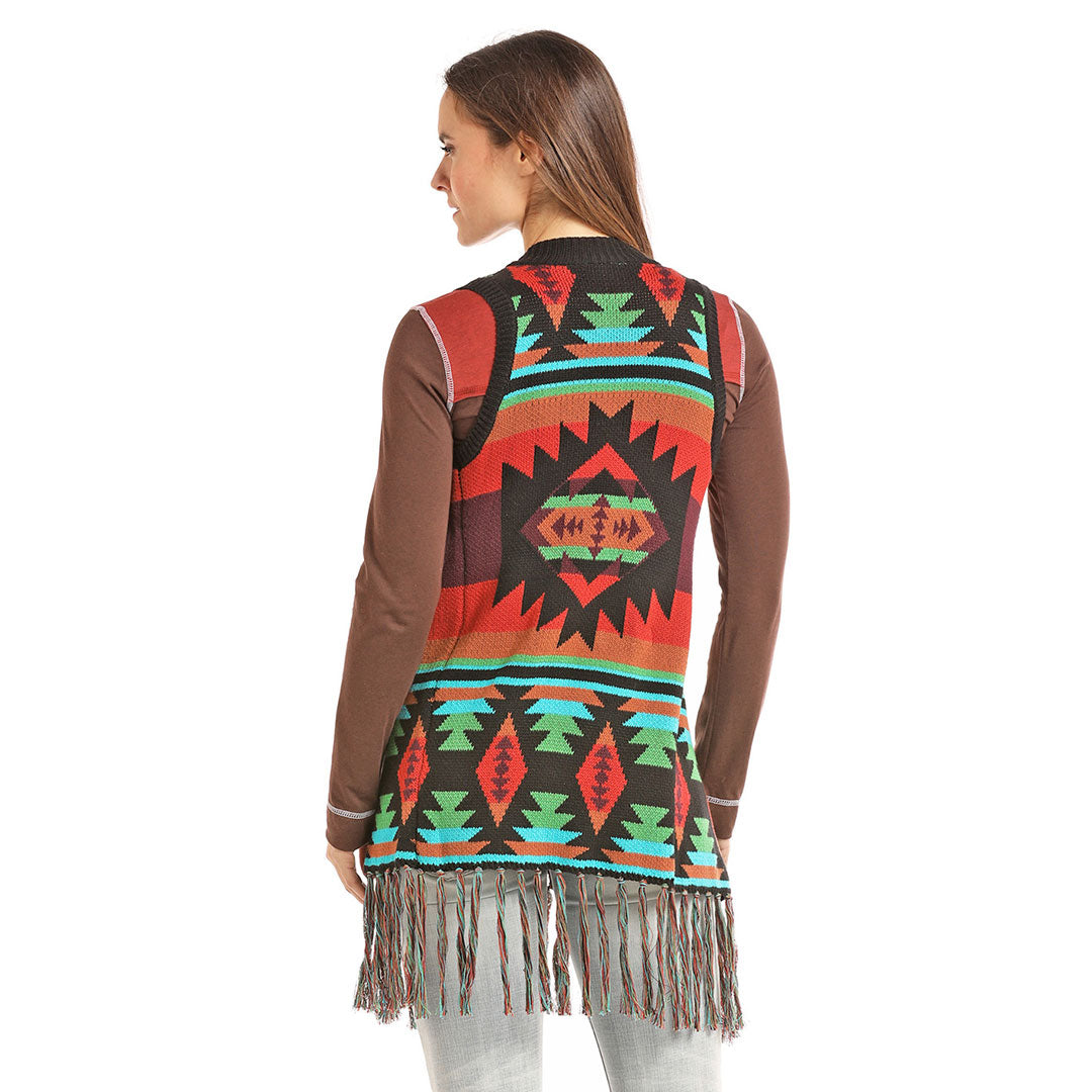 Powder River Outfitters Fringe Swing Vest