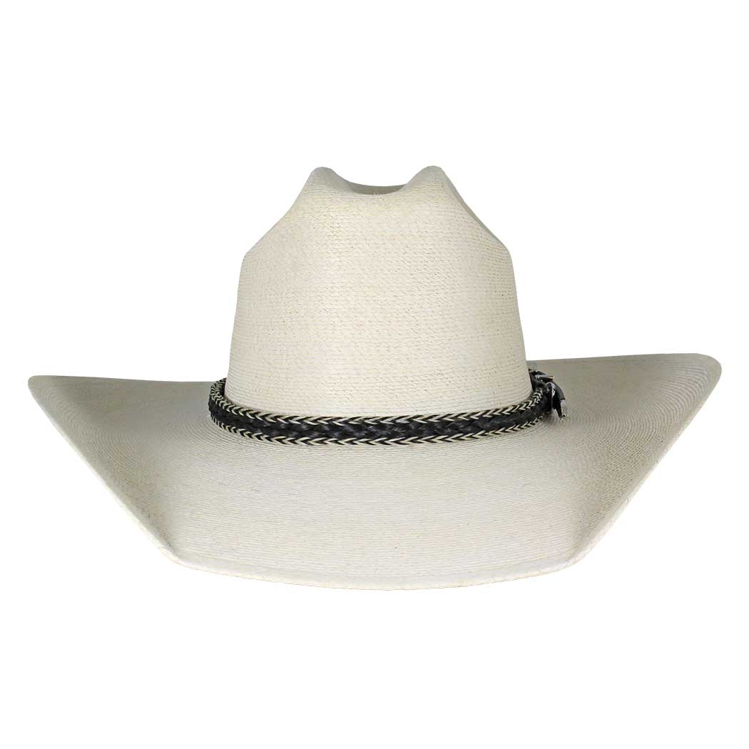 Austin Accents Braided Black & White Horsehair Hat Band