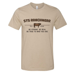 STS Ranchwear Be Strong Be Real Mens Tan Shirt