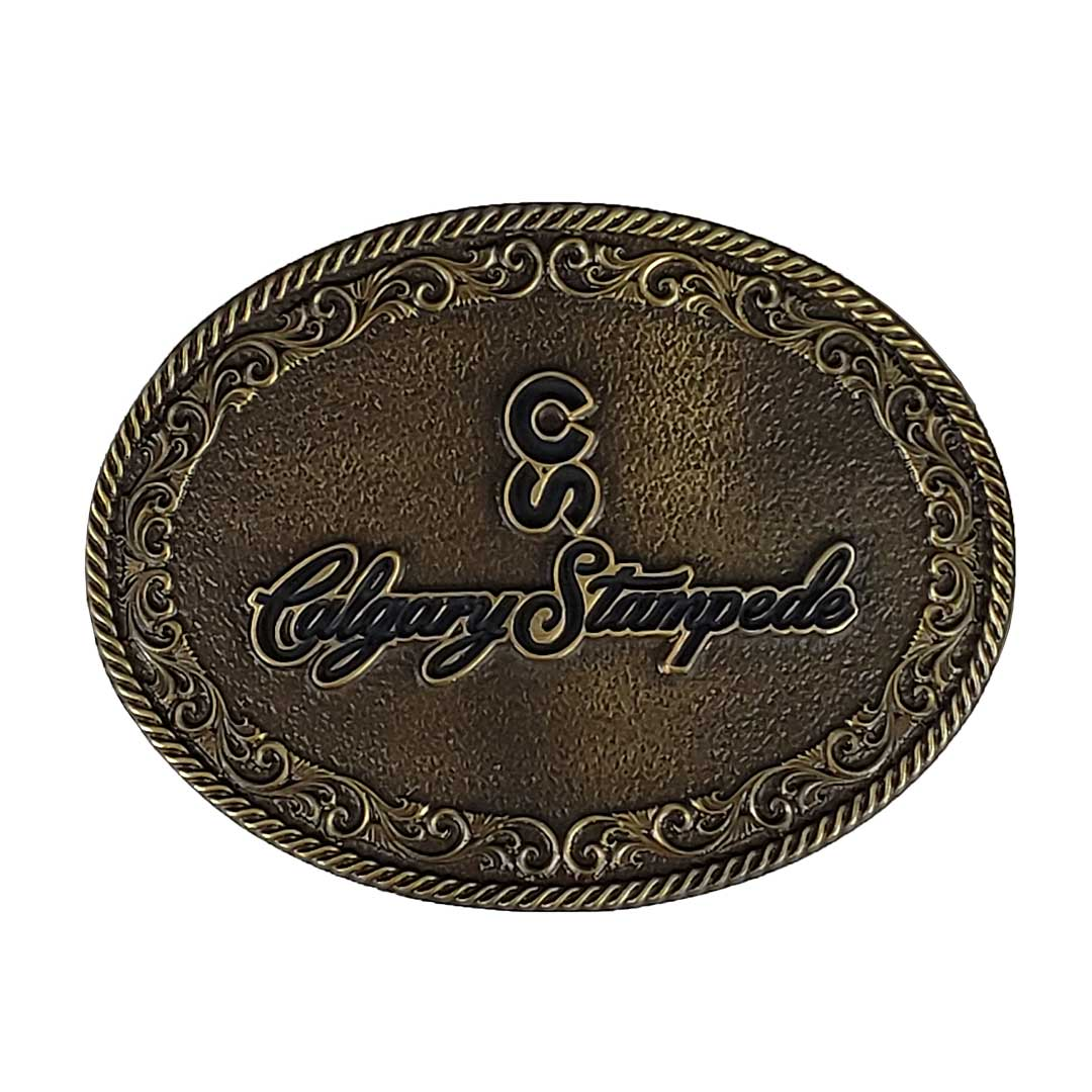 Brass Calgary Stampede Logo Buckle