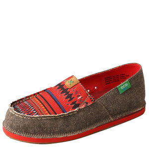 Twisted X Red Multi Color Womens Moccasin Shoe