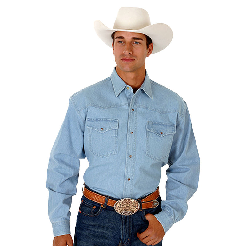 Roper Lite Denim Snap Western Shirt