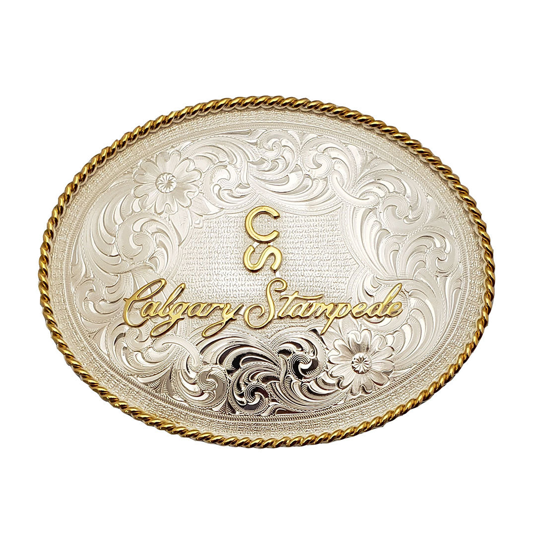 Montana Silversmiths Calgary Stampede Silver & Gold Oval Buckle