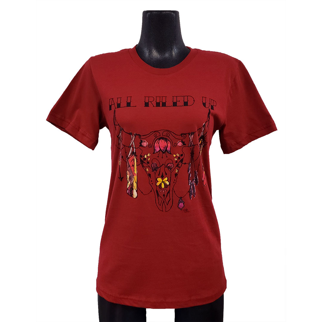 Catchfly All Riled Up Cardinal Red Womens Tee