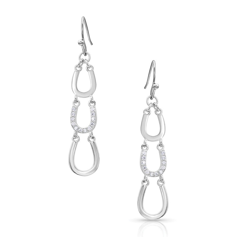 Montana Silversmiths One Step Closer Horseshoe Earrings