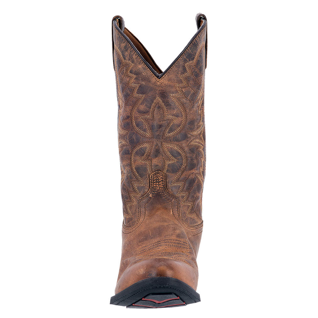 Laredo Birchwood Tan Distressed Cowboy Boot