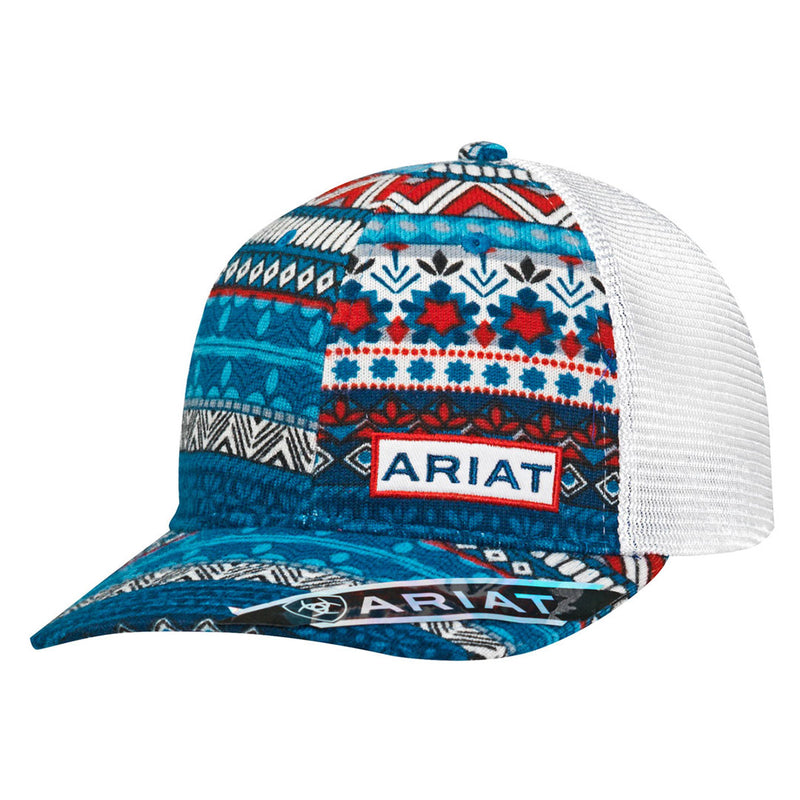 Ariat Red, White & Blue Mesh Back Cap