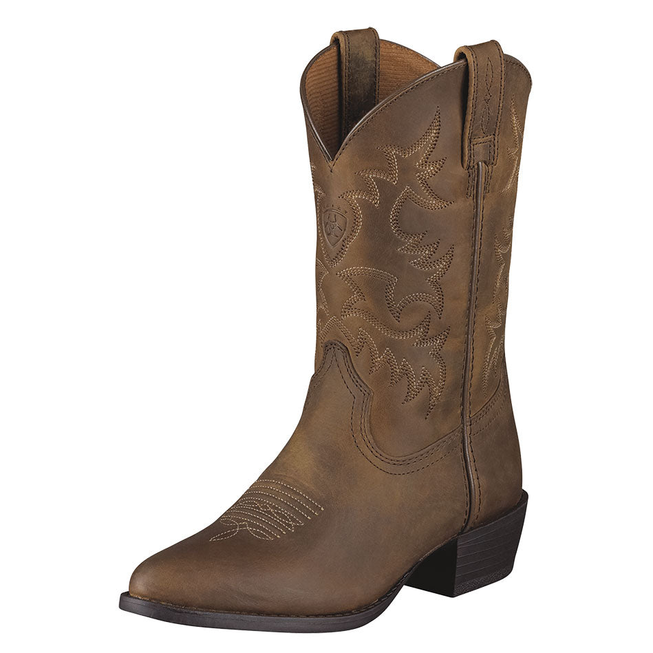 Ariat Heritage Western Kids Brown Cowboy Boots
