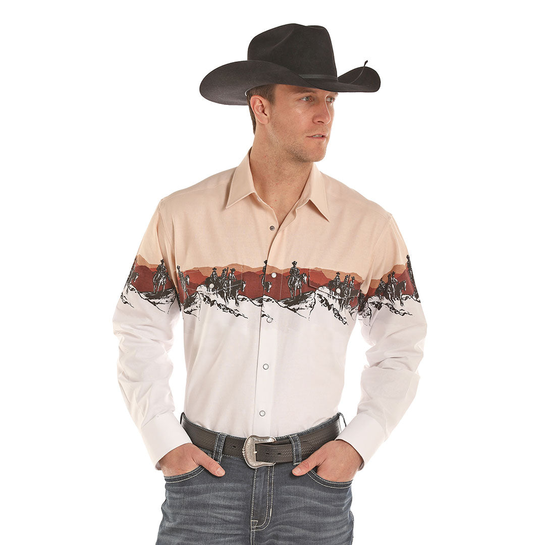 Panhandle Scenic Border Print Shirt