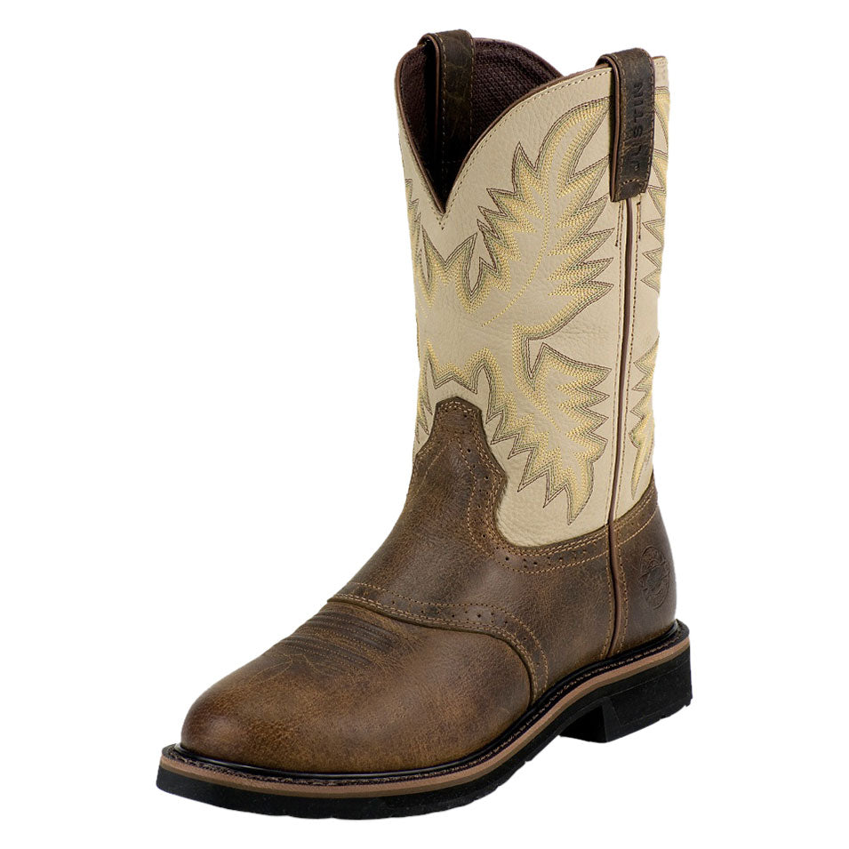 Justin Superintendent Brown & Sawdust Cowboy Work Boots