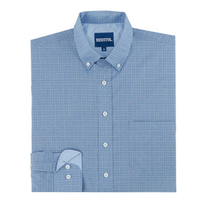 Resistol Coarsegold Button Blue Check Shirt