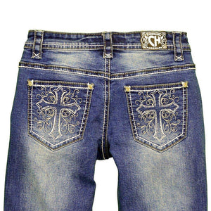 Cowgirl Hardware Cross Swirls Jean