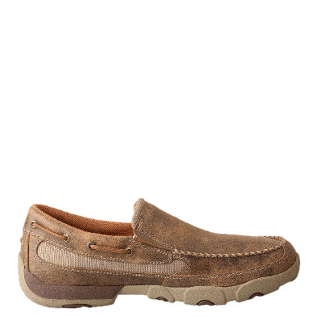 Twisted X Bomber Slip On Mens Driving Moccasin Shoe