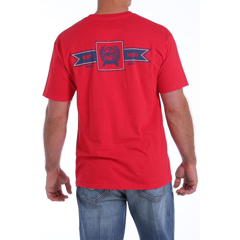 Cinch Classic Crew Neck Logo Red Tee
