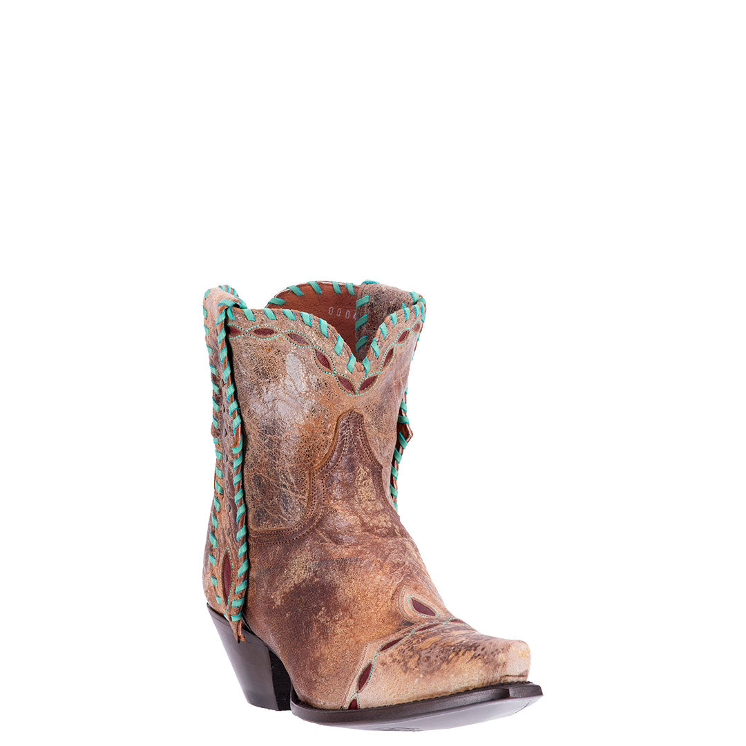 Dan Post Livie Tan Shorty Cowgirl Boots