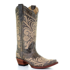 Circle G Filigree Embroidered Cowgirl Boots